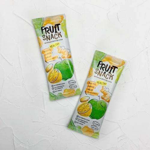 Снек яблоко + лимон + имбирь